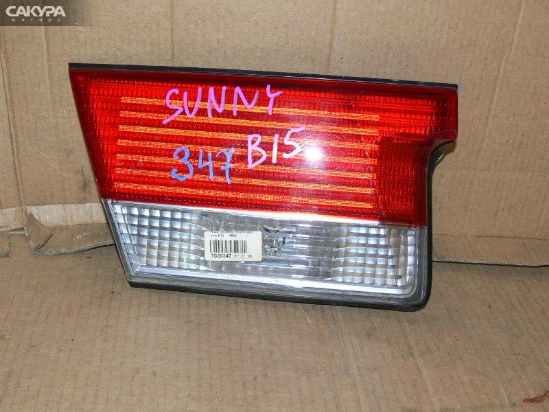 Фонарь вставка багажника Nissan Sunny B15  Красноярск Сакура Моторс