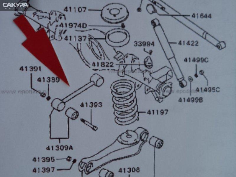 Тяга задняя Mitsubishi Delica Space Gear PD8W  Красноярск Сакура Моторс