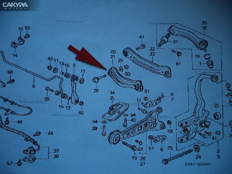 Тяга задняя Honda  CD7  Красноярск Сакура Моторс
