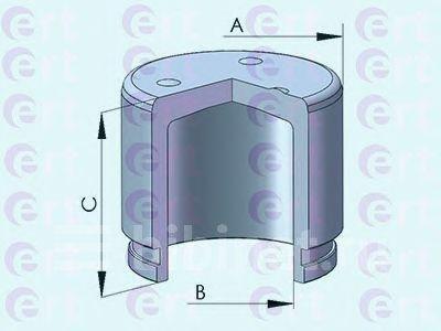 Купить Поршень суппорта Chevrolet Epica, Evanda, Rezzo 1.6-2.5  d=57mm 151236-C на Chevrolet Epica  в Москве