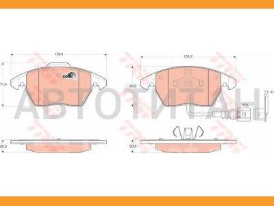 Купить Колодки тормозные на Skoda Octavia передние правые  в Красноярске