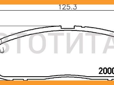 Купить Колодки тормозные на Toyota Mark II  в Красноярске