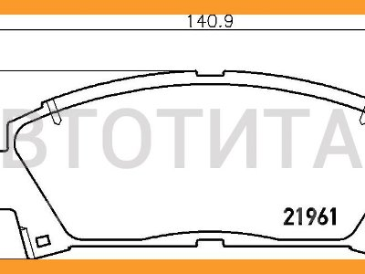 Купить Колодки тормозные на Toyota Caldina  в Красноярске