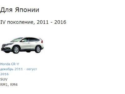 Купить Коврик на Honda CR-V RM4  во Владивостоке