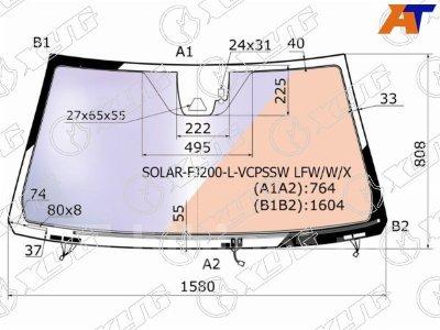 Купить Стекло лобовое на Toyota Land Cruiser UZJ200R  в Абакане